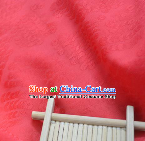 Chinese Royal Red Brocade Palace Pattern Traditional Silk Fabric Chinese Fabric Asian Material