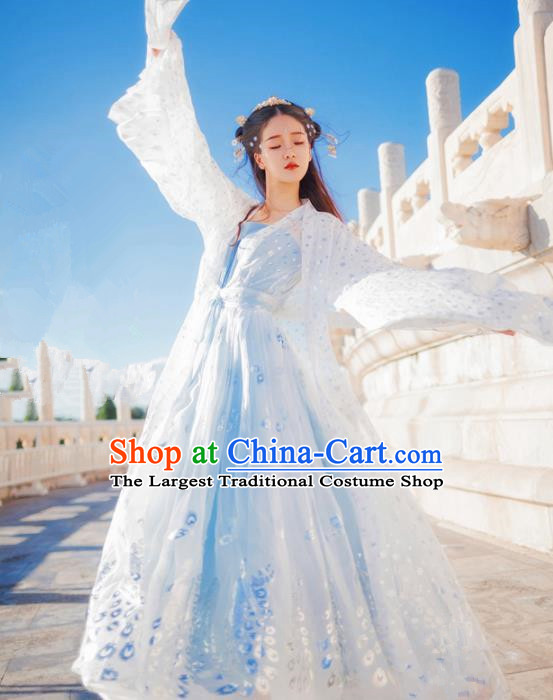 Chinese Ancient Royal Princess Embroidered Costumes Traditional Tang Dynasty Imperial Consort Hanfu Dress for Women