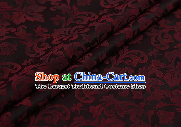 Chinese Classical Silk Fabric Traditional Red Pattern Satin Plain Cheongsam Drapery Gambiered Guangdong Gauze