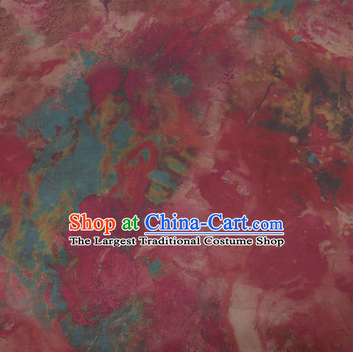 Chinese Classical Pink Silk Fabric Traditional Pattern Satin Plain Cheongsam Drapery Gambiered Guangdong Gauze