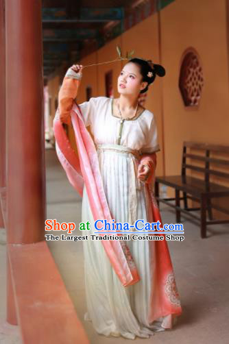 Ancient Chinese Tang Dynasty Imperial Consort Replica Costumes Traditional Hanfu Dress Complete Set