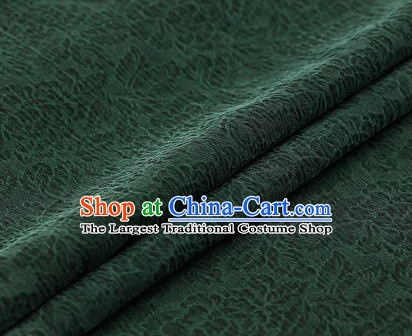 Chinese Traditional Green Gambiered Guangdong Gauze Satin Plain Classical Peony Pattern Cheongsam Silk Drapery
