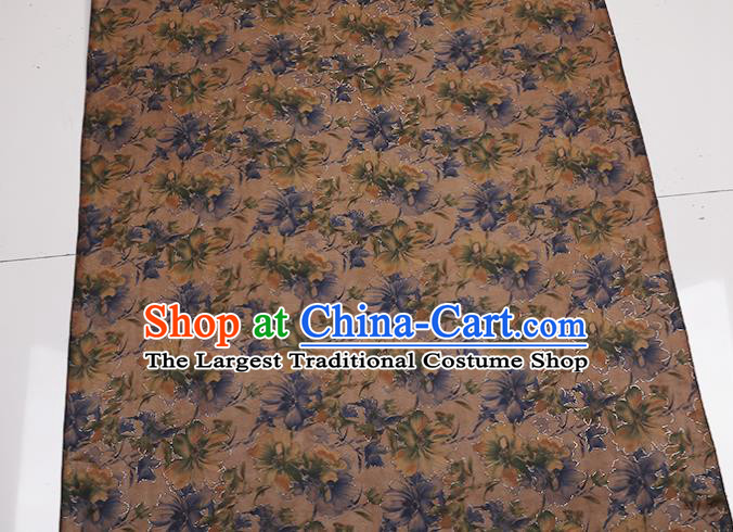 Traditional Chinese Gambiered Guangdong Gauze Satin Plain Classical Pattern Cheongsam Silk Drapery