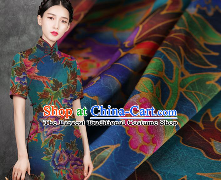 Chinese Traditional Silk Fabric Brocade Embroidered Fabric Dress Material Gambiered Canton Gauze