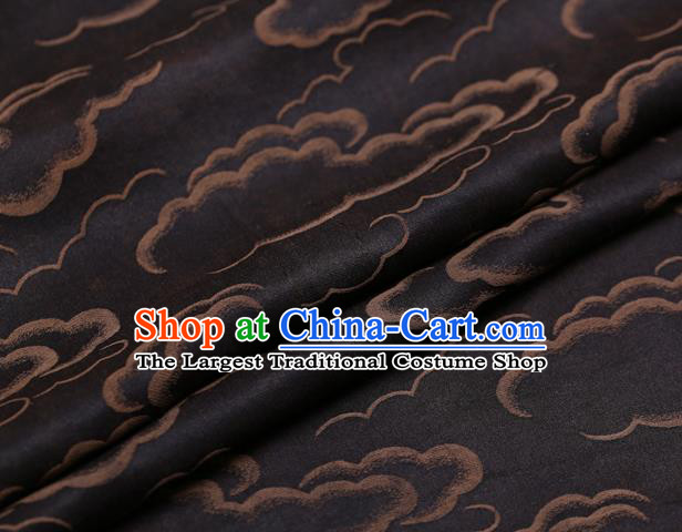 Chinese Traditional Brocade Fabric Palace Golden Clouds Pattern Satin Plain Cheongsam Silk Drapery