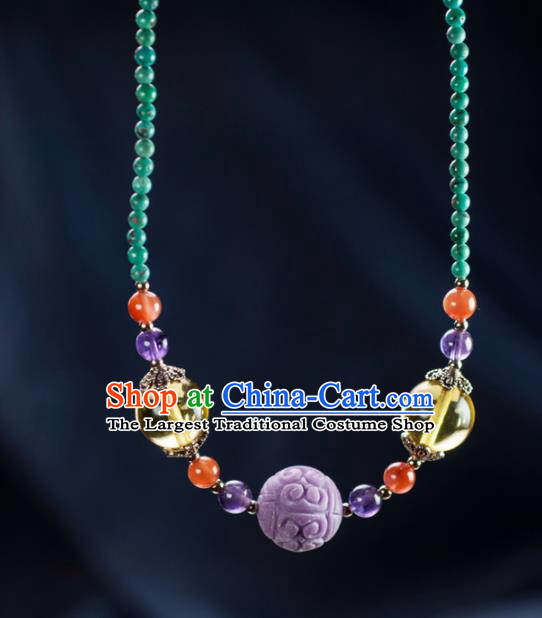 Chinese Traditional Jewelry Accessories Necklet Ancient Hanfu Necklace for Women
