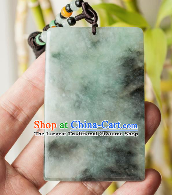Chinese Traditional Jewelry Accessories Jade Pendant Ancient Jadeite Necklace