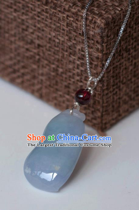 Chinese Traditional Jewelry Accessories Ancient Hanfu Jadeite Necklace for Women