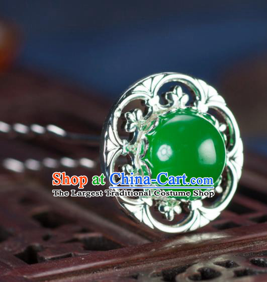 Chinese Traditional Hanfu Green Hair Clip Hair Accessories Ancient Classical Hairpins for Women