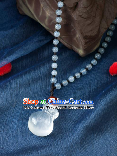 Chinese Traditional Jewelry Accessories Ancient Hanfu Jade Lucky Bag Necklace for Women