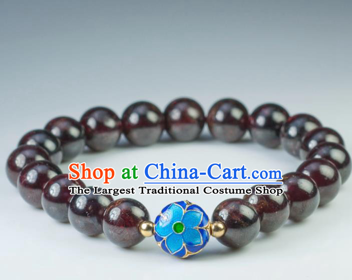 Chinese Traditional Accessories Ancient Handmade Garnet Beads Bracelet for Women