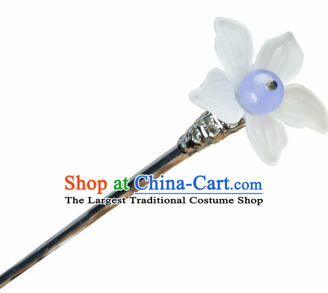 Chinese Traditional Hanfu Lily Flower Hair Clip Hair Accessories Ancient Classical Hairpins for Women
