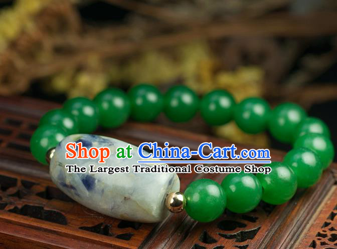 Chinese Traditional Accessories Ancient Handmade Tourmaline Beads Bracelet for Women