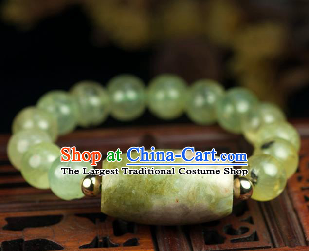 Chinese Traditional Accessories Ancient Handmade Topaz Beads Bracelet for Women