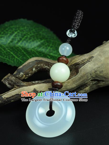 Chinese Traditional Jewelry Accessories Jade Craft Handmade Jadeite Pendant