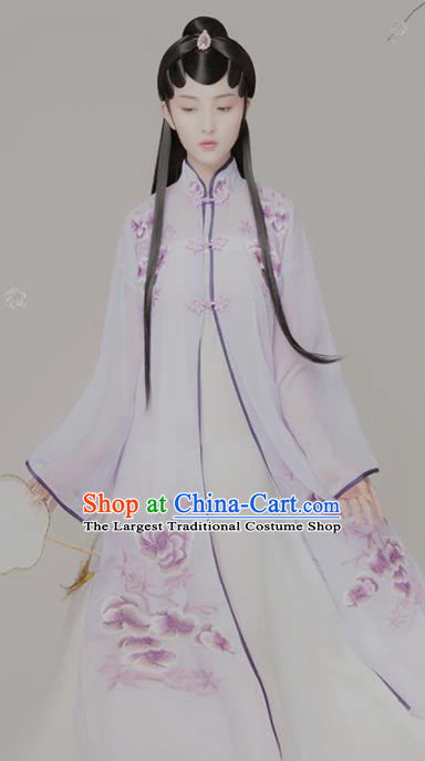 Chinese Ancient Peri Hanfu Dress Traditional Beijing Opera Diva Embroidered Costumes for Women