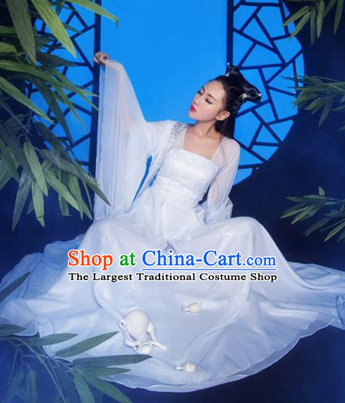 Chinese Ancient Peri Hanfu Dress Traditional Tang Dynasty Imperial Concubine Embroidered Costumes for Women