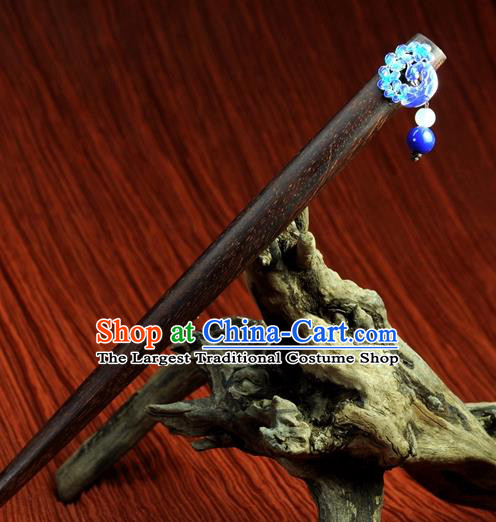 Chinese Traditional Hanfu Blueing Hair Clip Hair Accessories Ancient Classical Hairpins for Women