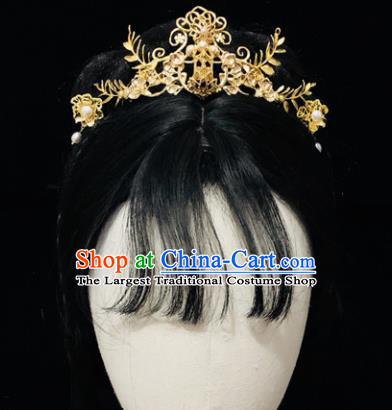 Chinese Classical Hair Accessories Traditional Ancient Hanfu Lotus Hair Coronet Hairpins for Women