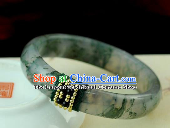 Chinese Traditional Accessories Ancient Handmade Jadeite Bracelet for Women
