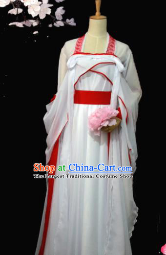 Chinese Ancient Peri Princess Embroidered Costumes for Women