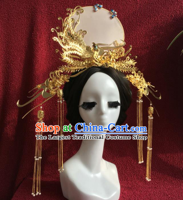 Chinese Traditional Palace Phoenix Coronet Ancient Bride Wedding Hair Accessories Hairpins for Women