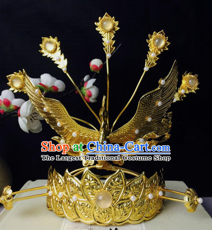 Chinese Classical Phoenix Coronet Hairpins Wedding Hair Accessories Traditional Ancient Hair Clip for Women