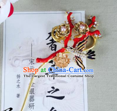 Chinese Classical Pearls Hairpins Traditional Ancient Hair Clip for Women