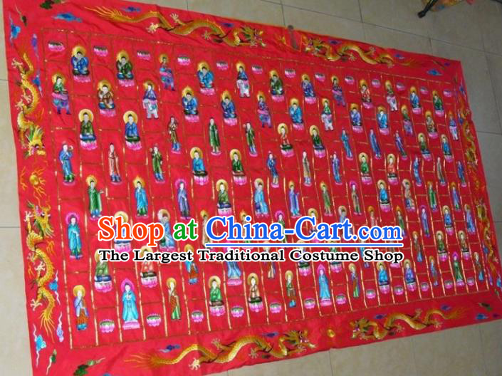 Chinese Traditional Handmade Buddhism Costume Embroidered Cassock