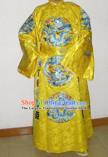 Chinese Traditional Ming Dynasty Emperor Embroidered Costume Ancient Majesty Clothing for Men