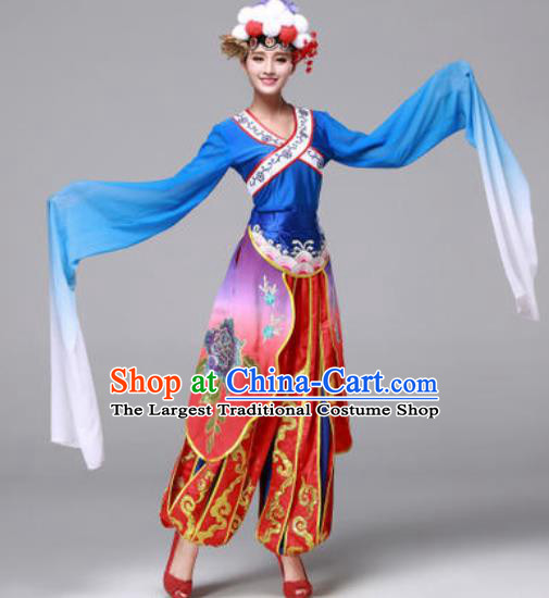 Traditional Chinese Yangko Dance Folk Dance Drum Dance Costume for Women
