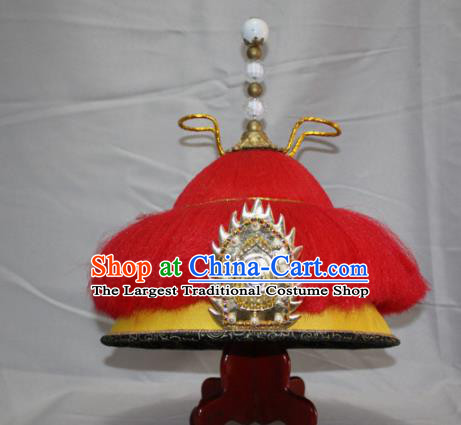 Chinese Traditional Ancient Qing Dynasty Emperor Mandarin Hat for Men