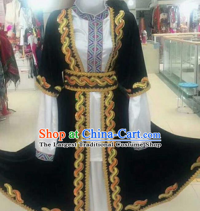 Chinese Traditional Folk Dance Costumes Uigurian Minority Dance Clothing for Men