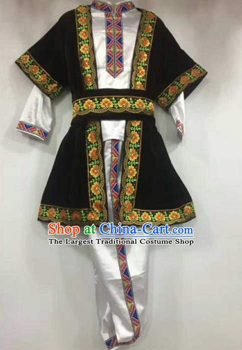 Chinese Traditional Folk Dance White Costumes Uigurian Minority Dance Clothing for Men