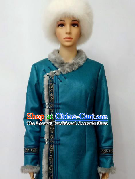 Chinese Traditional Ethnic Costumes Mongolian Minority Nationality Embroidered Costumes for Women