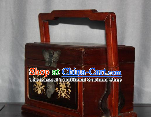 Chinese Ancient Handmade Craft Wood Jewelry Box