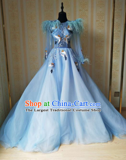 Top Grade Modern Dance Full Dress Stage Performance Princess Costume for Women