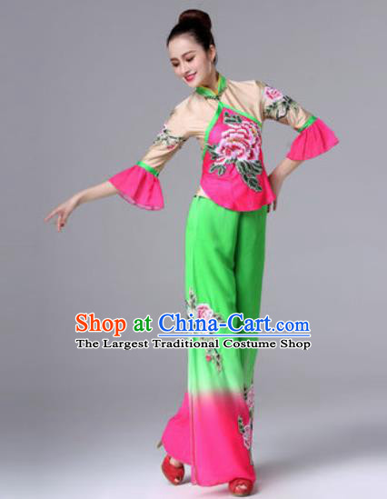 Traditional Chinese Classical Dance Clothing Yangko Dance Costume for Women