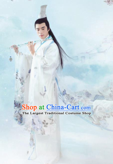 Traditional Chinese Ancient Swordsman Nobility Childe Embroidered Costumes for Men