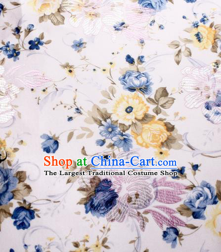 Chinese Traditional Brocade Classical Peony Pattern Design Silk Fabric Material Satin Drapery