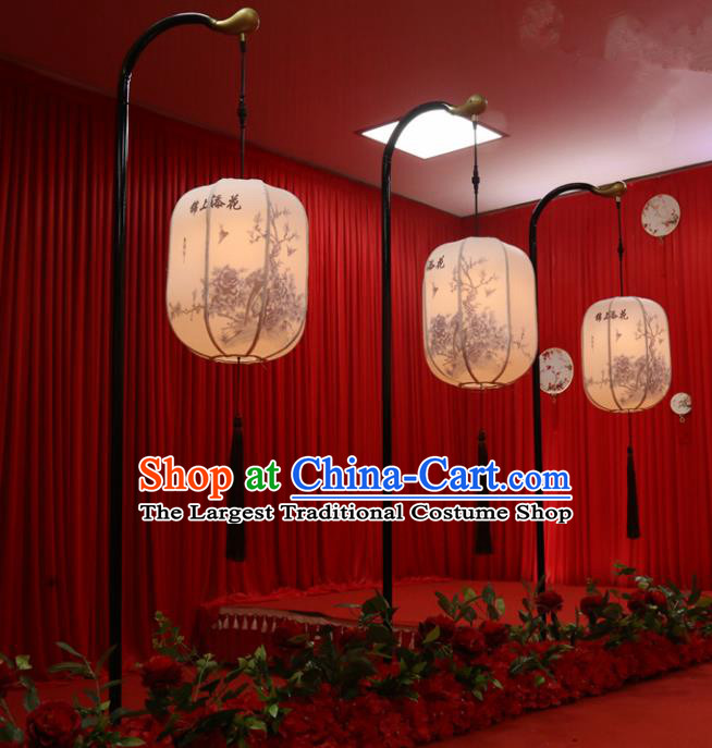 Chinese Traditional Palace Lantern Desk Lamp Ceiling LED Light