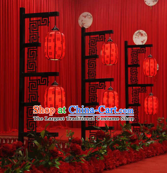 Chinese Traditional Red Palace Lantern Ceiling Lamp LED Light