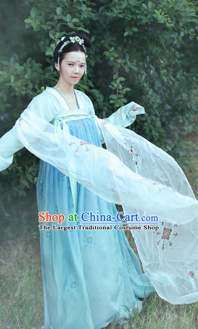Chinese Tang Dynasty Royal Court Replica Costumes Traditional Ancient Imperial Consort Hanfu Dress for Women