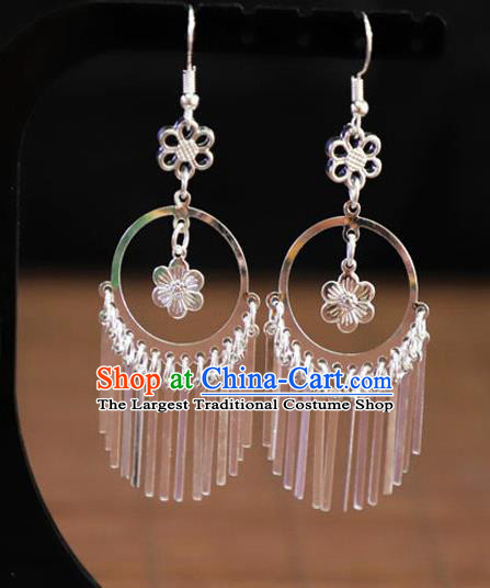 Chinese Traditional Miao Nationality Jewelry Accessories Wedding Earrings for Women