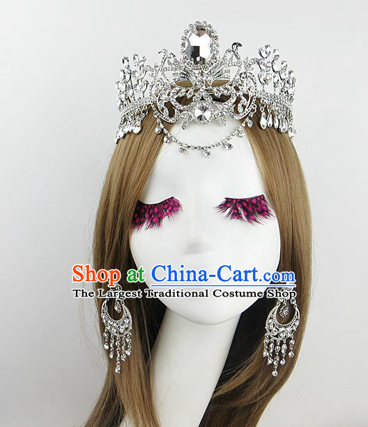 Top Grade Baroque Hair Accessories Wedding Crystal Royal Crown for Women