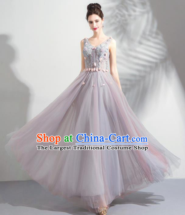Top Grade Handmade Catwalks Costumes Compere Flower Fairy Full Dress for Women
