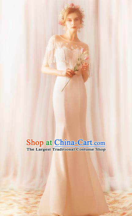 Top Grade Handmade Wedding Costumes Fancy Bride Mermaid Dress Princess Wedding Gown for Women