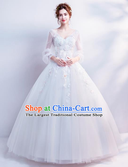 Top Grade Fancy Wedding Dress Handmade Princess Wedding Gown for Women
