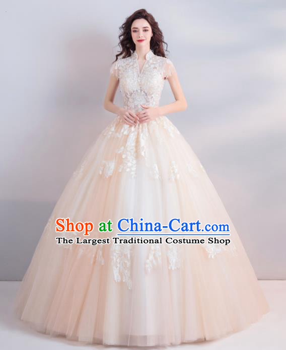 Handmade Top Grade Princess Wedding Dress Fancy Embroidered Wedding Gown for Women