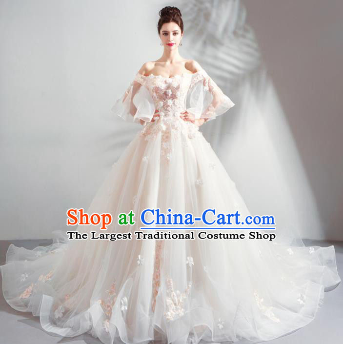 Handmade Top Grade Princess Mullet Wedding Dress Fancy Wedding Gown for Women
